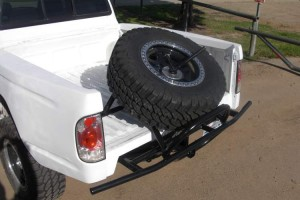 Baja Bumpers - Tacoma Rear Bumper with Removable Spare Tire Carrier